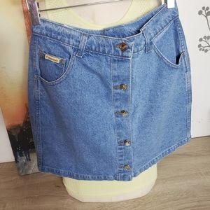 2 NWT Pensamiento Demin Jean Button Front Skirt